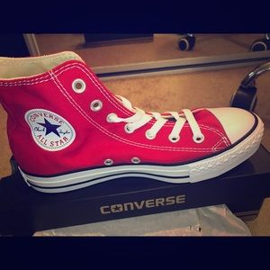 Red Converse Chuck Taylor All Star Hi-Top
